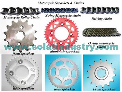 Motorcycle aluminum sprockets,front sprockets and rear sprockets,motorcycle roller chains,